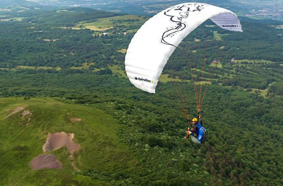 paragliding in south of France