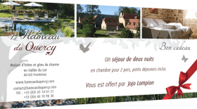 Offer a gift voucher for a stay at the Hameau du Quercy